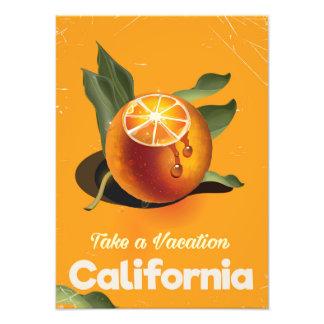 California Orange Retro Style vacation print