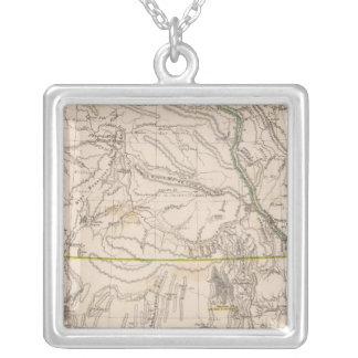 California, Oregan, Utah, New Mexico Silver Plated Necklace