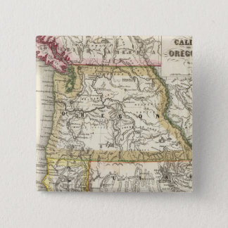 California, Oregon, Utah 15 Cm Square Badge