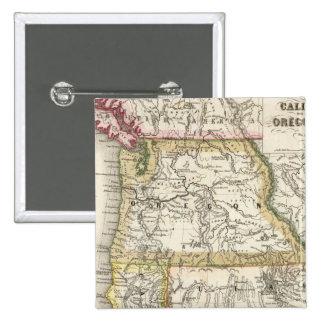 California, Oregon, Utah 15 Cm Square Badge