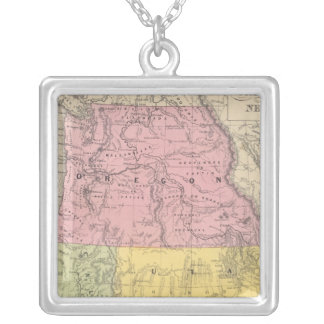 California, Oregon, Utah, and New Mexico Silver Plated Necklace