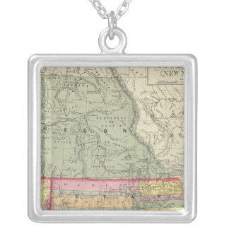 California, Oregon, Utah, New Mexico 2 Silver Plated Necklace