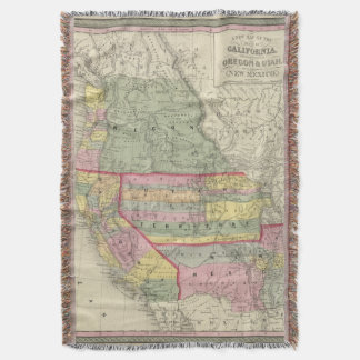 California, Oregon, Utah, New Mexico 2 Throw Blanket