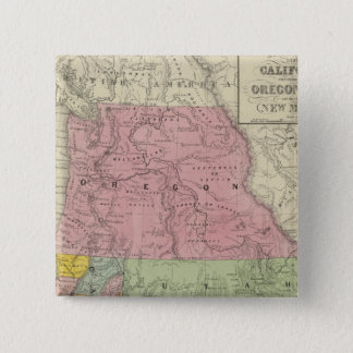 California, Oregon, Utah, New Mexico 3 15 Cm Square Badge