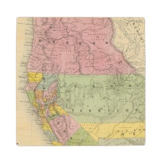 California, Oregon, Utah, New Mexico 3 Wood Coaster