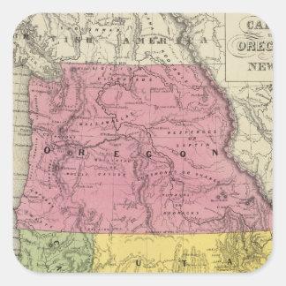 California, Oregon, Utah, New Mexico Square Sticker