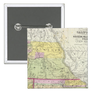California, Oregon, Washington, Utah, New Mexico 2 15 Cm Square Badge