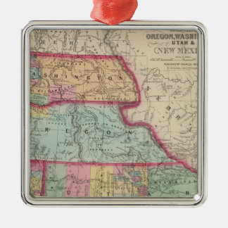 California, Oregon, Washington, Utah, New Mexico 2 Christmas Ornament