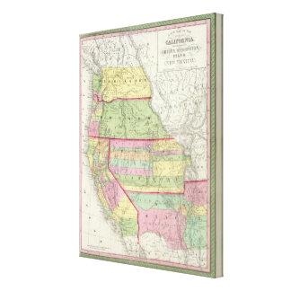 California, Oregon, Washington, Utah, New Mexico 2 Gallery Wrapped Canvas