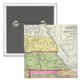 California, Oregon, Washington, Utah, New Mexico 3 15 Cm Square Badge