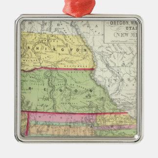 California, Oregon, Washington, Utah, New Mexico 3 Christmas Ornament