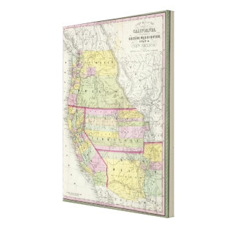 California, Oregon, Washington, Utah, New Mexico 4 Canvas Print