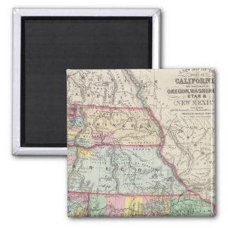 California, Oregon, Washington, Utah, New Mexico 4 Square Magnet