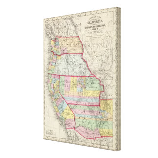 California, Oregon, Washington, Utah, New Mexico 5 Canvas Print