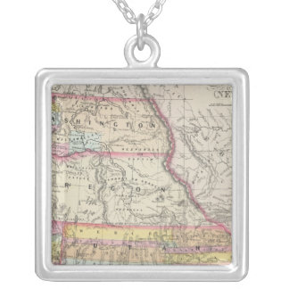 California, Oregon, Washington, Utah, New Mexico 5 Silver Plated Necklace