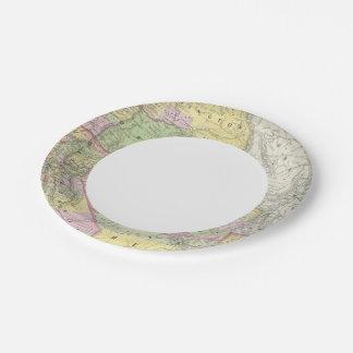 California, Oregon, Washington, Utah, New Mexico 6 Paper Plate