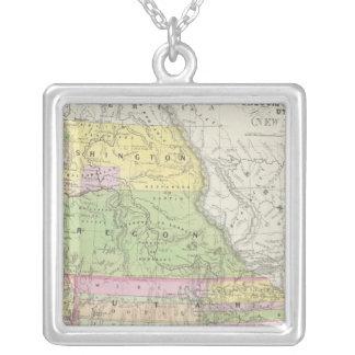 California, Oregon, Washington, Utah, New Mexico 6 Silver Plated Necklace
