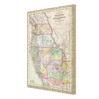 California, Oregon, Washington, Utah, New Mexico 7 Canvas Print