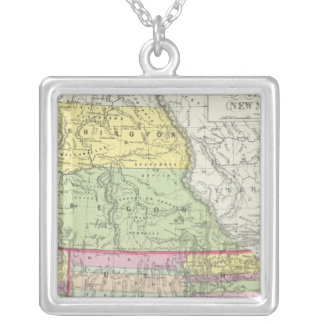 California, Oregon, Washington, Utah, New Mexico 7 Silver Plated Necklace