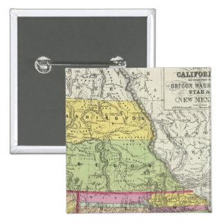 California, Oregon, Washington, Utah, New Mexico 8 15 Cm Square Badge
