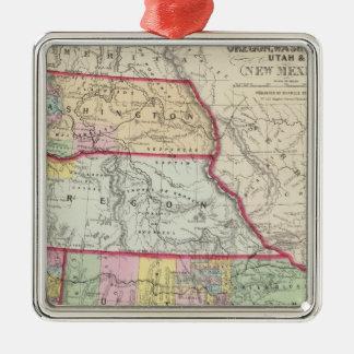 California, Oregon, Washington, Utah, New Mexico Christmas Ornament