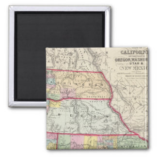 California, Oregon, Washington, Utah, New Mexico Magnet