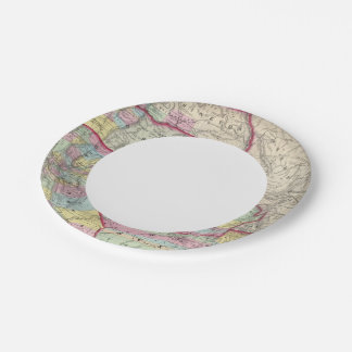 California, Oregon, Washington, Utah, New Mexico Paper Plate