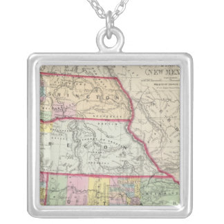 California, Oregon, Washington, Utah, New Mexico Silver Plated Necklace