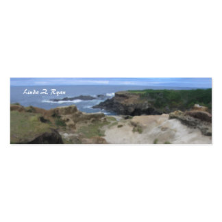 California Pacific Coast scene Double-Sided Mini Business Cards (Pack Of 20)