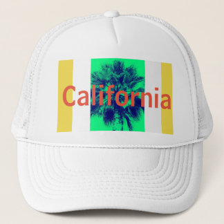 California Palm Tree Trucker Hat