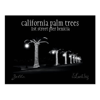 CALIFORNIA PALM TREES by iLuvit.biz - post card
