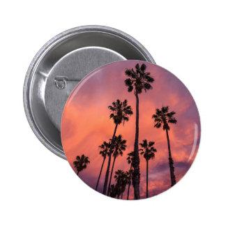 California palms 6 cm round badge
