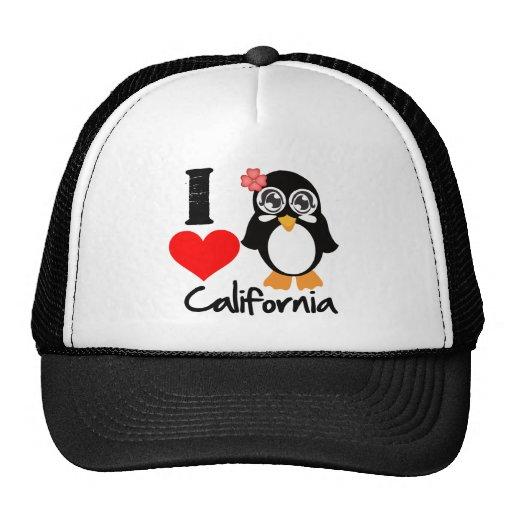 California Penguin - I Love California Mesh Hat