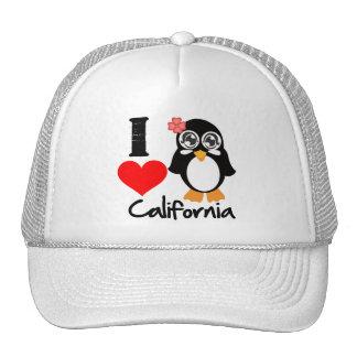 California Penguin - I Love California Trucker Hats