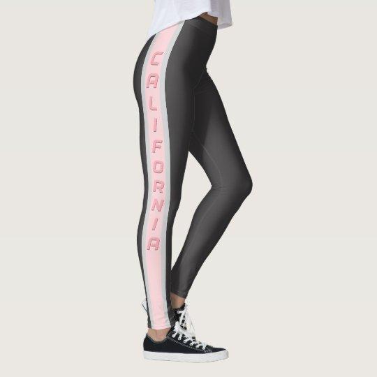 California Pink and Grey Leggings