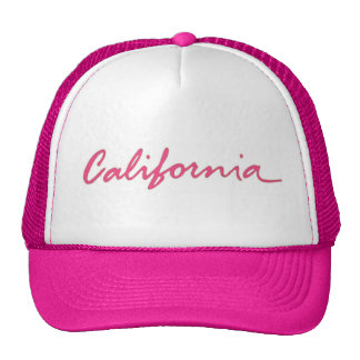 California pink theme local writing hat