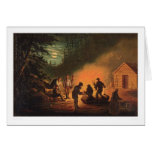 California Pioneers Around a Campfire (0131A) Greeting Card