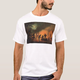 California Pioneers Around a Campfire (0131A) T-Shirt