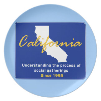 California Party Plate