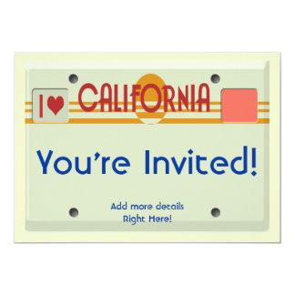 California Plates 13 Cm X 18 Cm Invitation Card