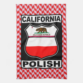 California Polish American Tea Towels