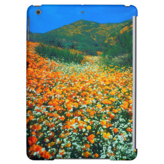 California Poppies and Popcorn wildflowers Case For iPad Air
