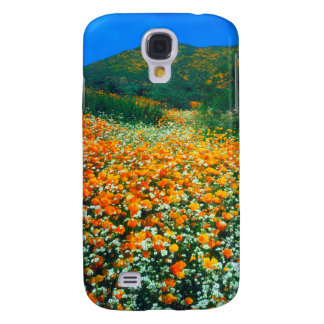 California Poppies and Popcorn wildflowers Galaxy S4 Case