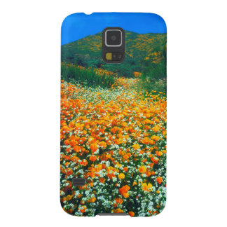 California Poppies and Popcorn wildflowers Galaxy S5 Covers