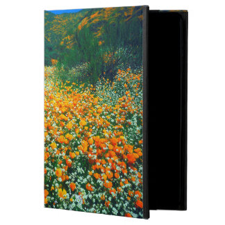 California Poppies and Popcorn wildflowers iPad Air Cover