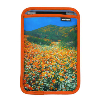 California Poppies and Popcorn wildflowers iPad Mini Sleeve