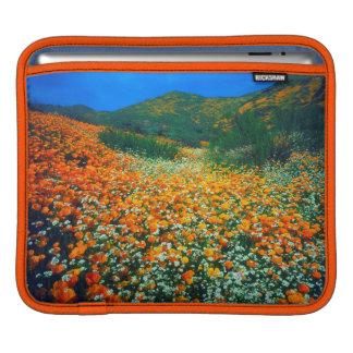 California Poppies and Popcorn wildflowers iPad Sleeve
