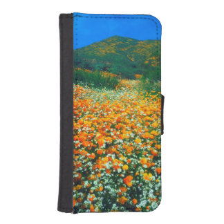 California Poppies and Popcorn wildflowers iPhone SE/5/5s Wallet Case