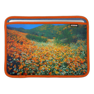 California Poppies and Popcorn wildflowers Sleeve For MacBook Air