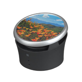 California poppies covering a hillside bluetooth speaker